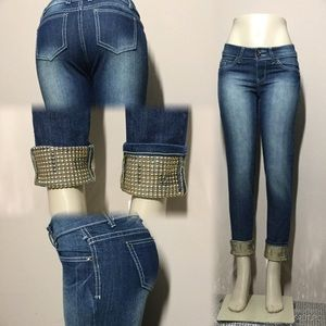 Candy Couture, Ankle Denim Jeans embellished ,